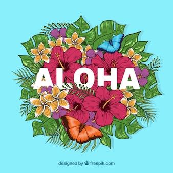 Fundo colorido de Aloha