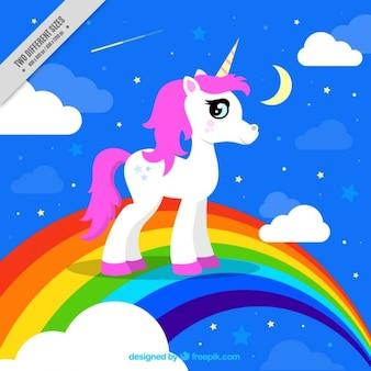fundo colorido de unicorn