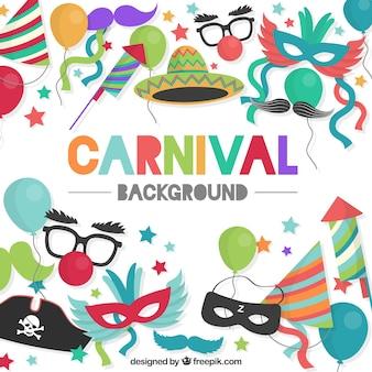 Fundo colorido do carnaval