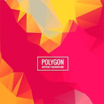 Fundo colorido do polígono