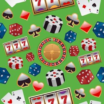 Fundo com elementos do casino