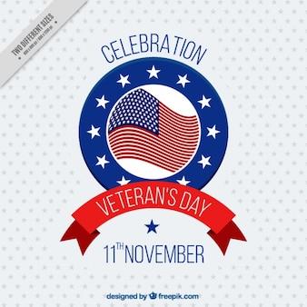 Fundo com estrelas de dia de veteranos