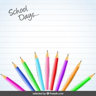 Fundo com lápis coloridos