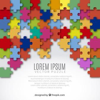 Fundo com peças do puzzle colorido