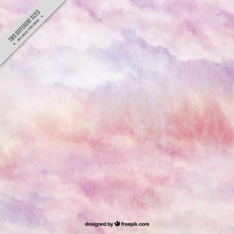 Fundo com rosa textura da aguarela
