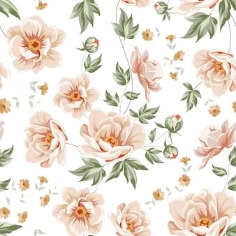 Fundo com um padrão floral à moda