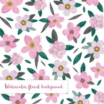 Fundo com um teste padrão floral rosa