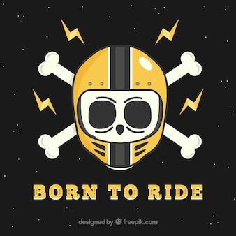 Fundo, cranio, Desgastar, capacete