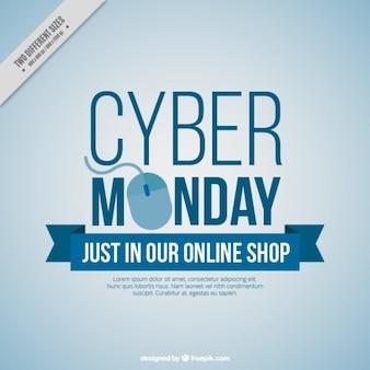 Fundo Cyber segunda-feira com rato do computador
