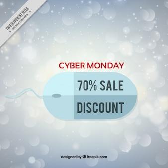 Fundo Cyber segunda-feira com um rato no design plano