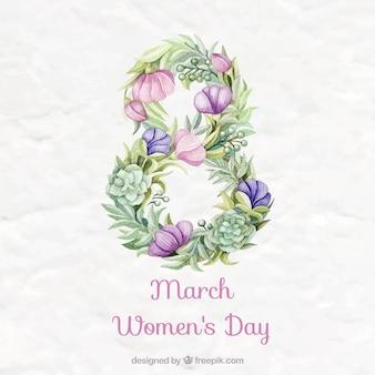 Fundo da aguarela Dia da Mulher