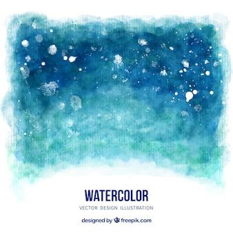 Fundo da aguarela em tons de azul