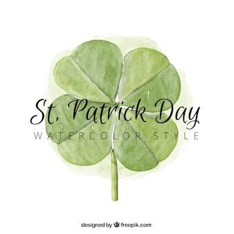 Fundo da aguarela trevo Dia de Saint Patrick