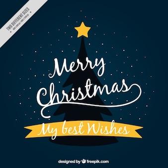 Fundo da árvore de Natal com estrela