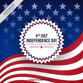 fundo da bandeira americana do Dia da Independência