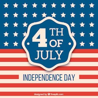 Fundo da bandeira do dia da independência americana