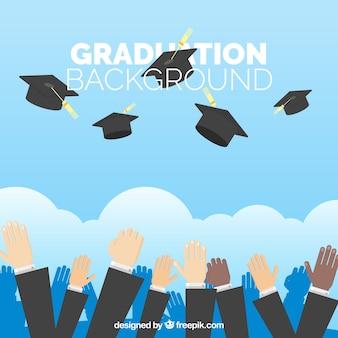 Fundo da celebração da graduação