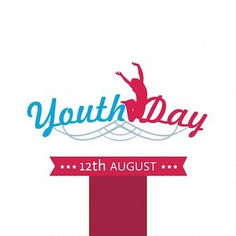 Fundo da celebração do Dia da Juventude