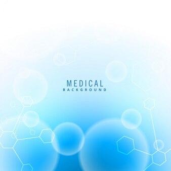 Fundo da ciência médica com partículas