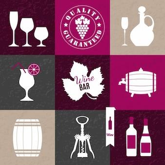 Fundo da colagem do vinho