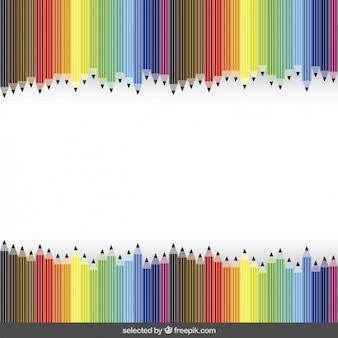 Fundo da escola com giz de cera colorido
