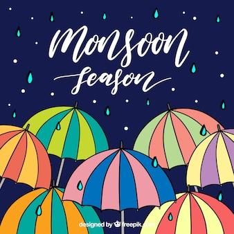 Fundo da estação Monsoon