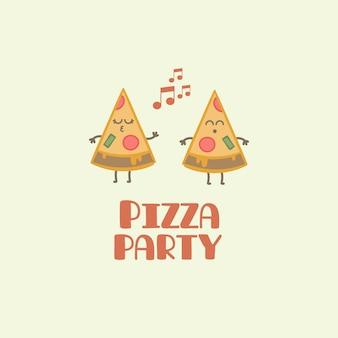 Fundo da festa da pizza