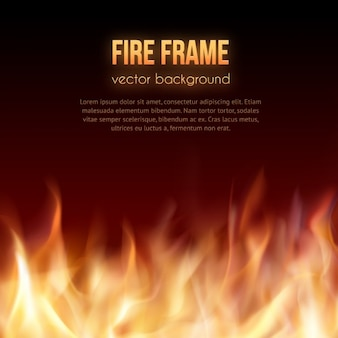Fundo da flama do incêndio