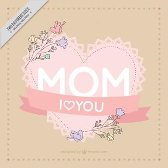 fundo da forma do coração para o dia da mãe