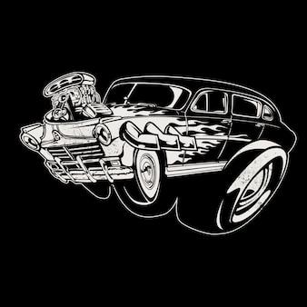 Fundo da ilustração do carro