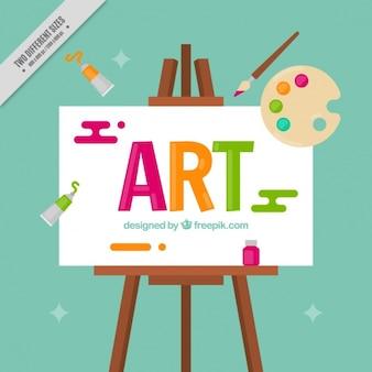 """Fundo da lona com a palavra """"arte"""""""