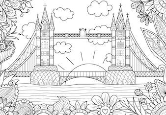 Fundo da ponte de Londres