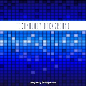 Fundo da tecnologia com quadrados azuis