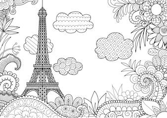 Fundo da torre Eiffel