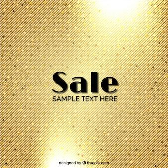 Fundo da venda dourado brilhante
