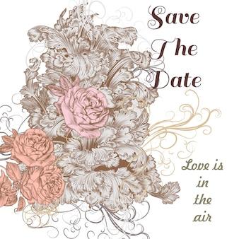 Fundo de casamento floral