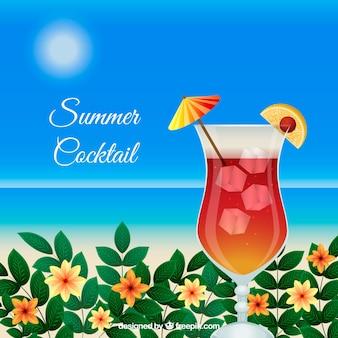 Fundo de cocktail de verão