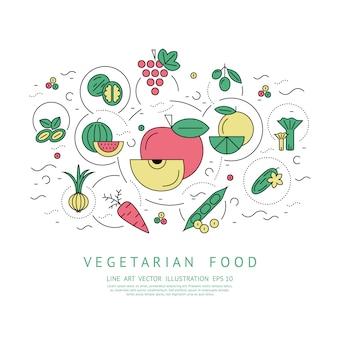 Fundo de comida vegetariana