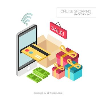 Fundo de compras on-line