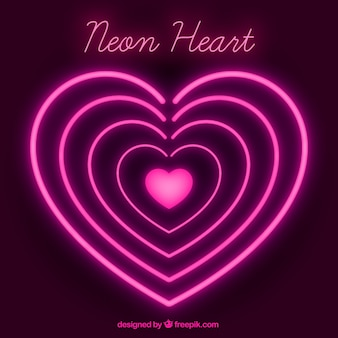Fundo de corações de néon