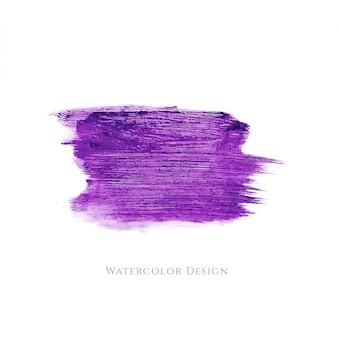 Fundo de design de mancha de aguarela de cor violeta