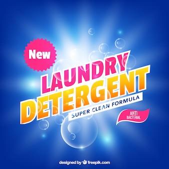 Fundo de detergente brilhante