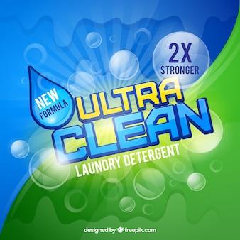 Fundo de detergente de lavanderia