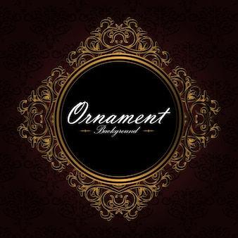 Fundo de diamante ornamental