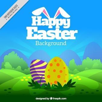 Fundo de Easter com ovos