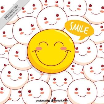 Fundo de emoticons positivos