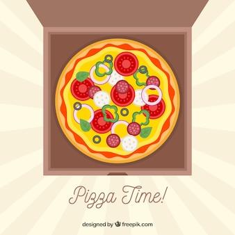 Fundo de entrega de pizza