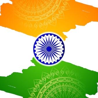 Fundo de estilo artístico da bandeira indiana