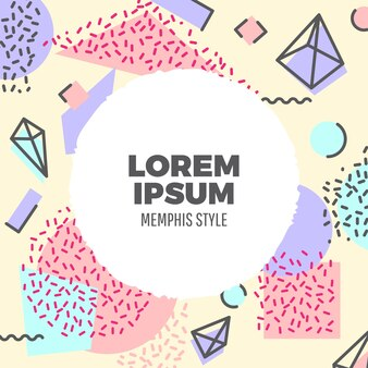 Fundo de estilo de Memphis