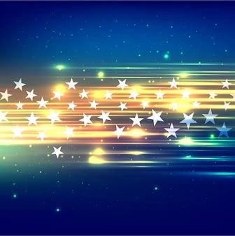 Fundo de estrelas coloridas